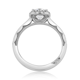 Platinum Tacori Sculpted Crescent Moissanite Engagement Ring (49CUP65-M)