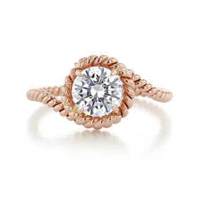 Danhov Abbraccio Swirl Engagement Ring  (AE135)