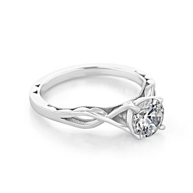 Tacori Sculpted Crescent Moissanite Engagement Ring (51RD65-M)