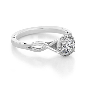 Tacori Sculpted Crescent Moissanite Engagement Ring (52RD55-M)