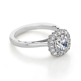 Tacori Full Bloom Moissanite Engagement Ring (55-2CU7-M)