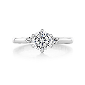 1.00 Ct. Round Moissanite Platinum Simply Tacori Engagement Ring (56-2RD65-M)