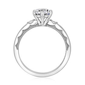 Platinum Simply Tacori Moissanite Engagement Ring (56-2RD65-M)