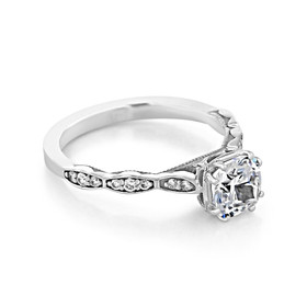 White Gold Tacori Sculpted Crescent Moissanite Engagement Ring (57-2CU6M)