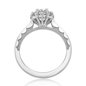 White Gold Tacori Sculpted Crescent Moissanite Engagement Ring (59-2RD65M)
