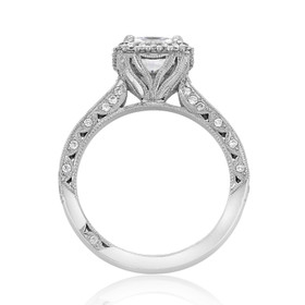 Platinum Tacori Blooming Beauties Moissnite Engagement Ring (HT2522PR55-M)