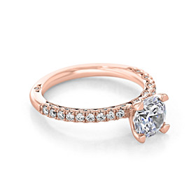 Rose Gold Tacori Petite Crescent Moissanite Engagement Ring (HT2545RD7PK-M)