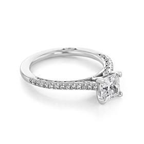 Platinum Tacori Petite Crescent Moissanite Engagement Ring (HT254615PR55-M)