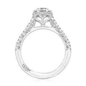 Platinum Tacori Petite Crescent Moissanite Engagement Ring (HT254715RD65-M)