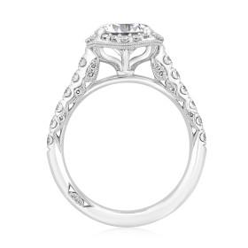 Platinum Tacori Petite Crescent Moissanite Engagement Ring (HT254725CU8-M)