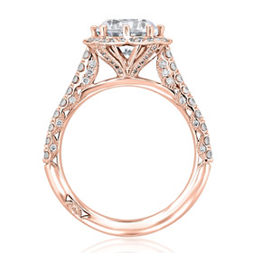 Rose Gold Tacori Petite Crescent Moissanite Engagement Ring (HT2555RD75-M)