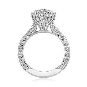 Platinum Tacori RoyalT Moissanite Engagement Ring (HT2604RD85-M)