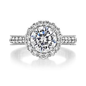 2.20 Ct. Round Moissanite Platinum Tacori RoyalT Engagement Ring (HT2605RD85-M)