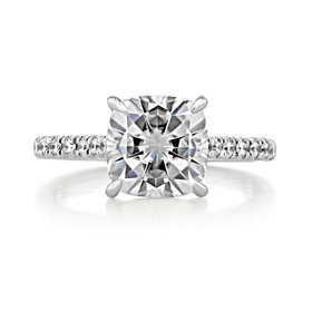 2.50Ct. Cushion Moissanite Engagement Ring (AV19CU-M)