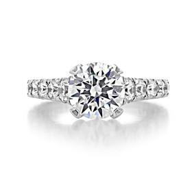 Platinum Tacori RoyalT Moissanite Engagement Ring (HT2623RD85-M)