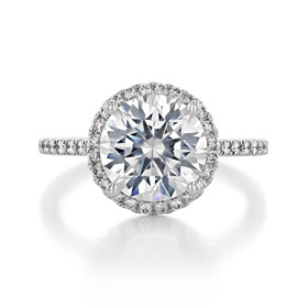 White Gold 3.50 ct. Moissanite Halo Engagement Ring (FG86A-M)