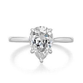 2.00 Ct. Pear Shaped Moissanite Solitaire Engagement Ring (SO71PS-M)