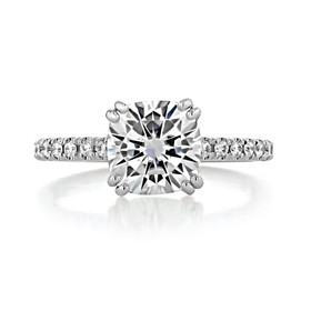 2.00 Ct. Cushion Cut Moissanite Micro-Prong Engagement Ring (EV198CU-M)