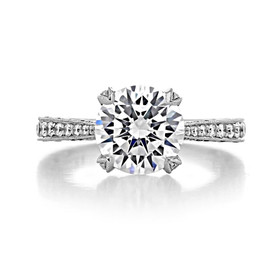 Platinum Tacori RoyalT Moissanite Engagement Ring (HT2626RD9-M)