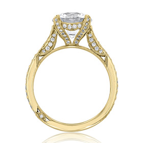 Yellow Gold Tacori RoyalT Moissanite Engagement Ring (HT2627RD9-M)