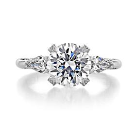 Platinum Tacori RoyalT Moissanite Engagement Ring (HT2628RD85-M)