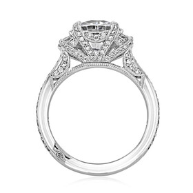 Platinum Tacori RoyalT Moissanite Engagement Ring (HT2655RD85-M)