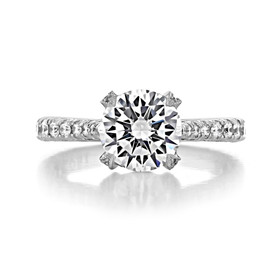 Platinum Tacori RoyalT Moissanite Engagement Ring (HT2663RD8-M)