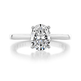 14K White Gold Proposal Ring (SO38OVW)