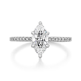 1.50 Ct. Marquise Shaped Moissanite Micro-Prong Engagement Ring (EV160MQ-M)