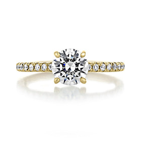 1 ct Round Micro-Prong Yellow Gold Engagement Ring (CR160RD)