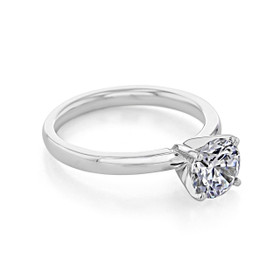 18k White Gold Solitaire Engagement Ring (SO56-LG)