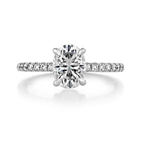 1.50 ct Oval Hidden Halo White Gold Engagement Ring (CR19OV)