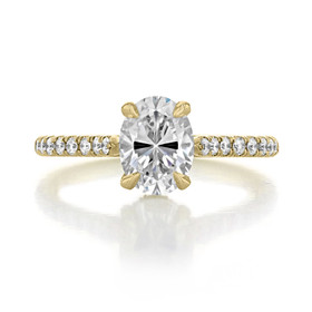 1.50 ct Oval Hidden Halo Yellow Gold Engagement Ring (CR09OV-YG)