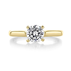 1 ct Round Gabriel Solitaire Yellow Gold Engagement Ring (ER8073-YG)