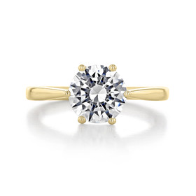 2 ct Round 6-Prong Solitaire Engagement Yellow Gold Ring (EV108A-YG)