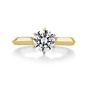 1 ct Round 6-Prong Solitaire Yellow Gold Engagement Ring (SO44-YG)