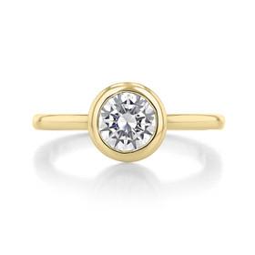 1 ct Danhov Per Lei Bezel Yellow Gold Engagement Ring  (LE100-YG)