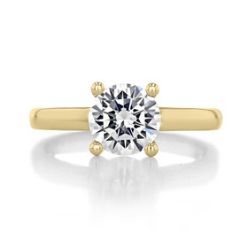 1.50 ct Round Gabriel Solitaire Yellow Gold Engagement Ring (GC19SO-150-YG)