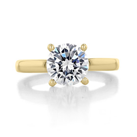 2 ct Round Gabriel Solitaire Yellow Gold Engagement Ring (GC19SO-200-YG)