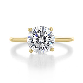 2.50 ct Round Solitaire Yellow Gold Engagement Ring (FG87-250-YG)