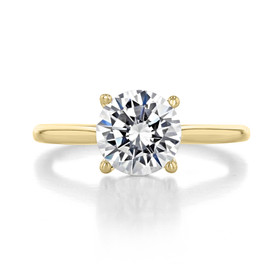 2 ct Round Solitaire Yellow Gold Engagement Ring (FG87-200-YG)