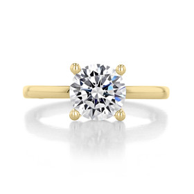 1.75 ct Round Gabriel Solitaire Yellow Gold Engagement Ring (ER14982-175-YG)