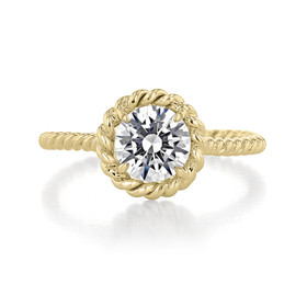 1 ct Danhov Solo Filo Braided Yellow Gold Engagement Ring (SE106-YG)