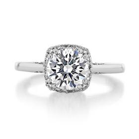 1.50 ct Tacori Dantela White Gold Engagement Ring (2620RDMD)