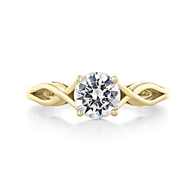1 ct Tacori Sculpted Crescent Yellow Gold Engagement Ring (51RD65-YG)