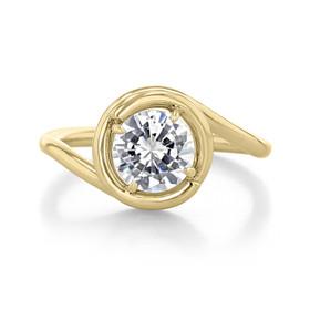 1 ct Danhov Abbraccio Yellow Gold Engagement Ring  (AE133-YG)