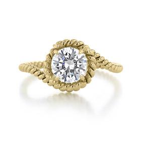 1 ct Danhov Abbraccio Swirl Yello Gold Engagement Ring  (AE135-YG)