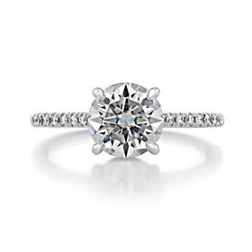 1.50 ct Round Hidden Halo White Gold Engagement Ring (CR09)