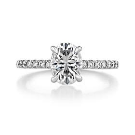 1.50 ct Oval Hidden Halo Platinum Engagement Ring (CR19OV-PL)