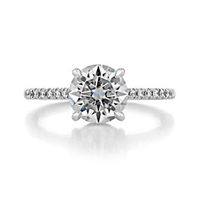1.50 ct Round Hidden Halo Platinum Engagement Ring (CR09-PL)
